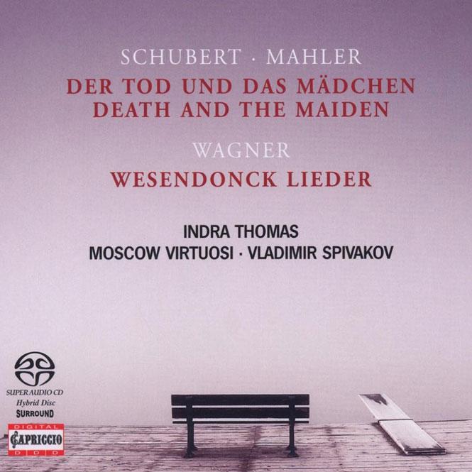 Schubert (arr. Mahler): Der Tod und das Mädchen; Wagner: Wesendonck Lieder |Indra Thomas (sopran), Moscow Virtuosi, dir. Vladimir Spivakov | Capriccio 71 098 | Magasinet KLASSISK