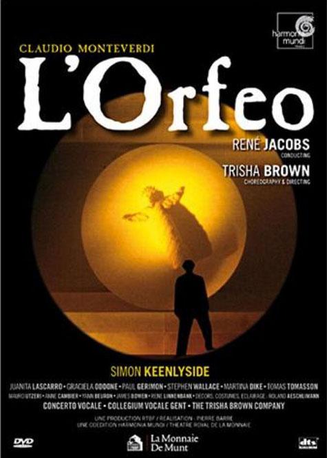 Monteverdi: L'Orfeo | Simon Keenlyside, Juanita Lascarro, Martina Dike m.fl., Concerto Vocale & Collegium Vocale Gent, dir. René Jacobs, iscen. Trisha Brown I Harmonia Mundi 990900304 | Magasinet KLASSISK